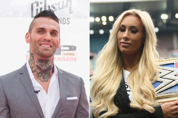 Carmella WWE Star and Corey Graves