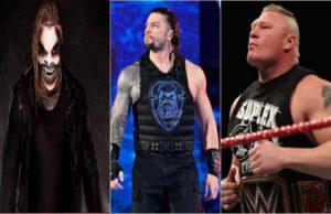 The Fiend Bray Wyatt, Roman Reigns and Brock Lesnar