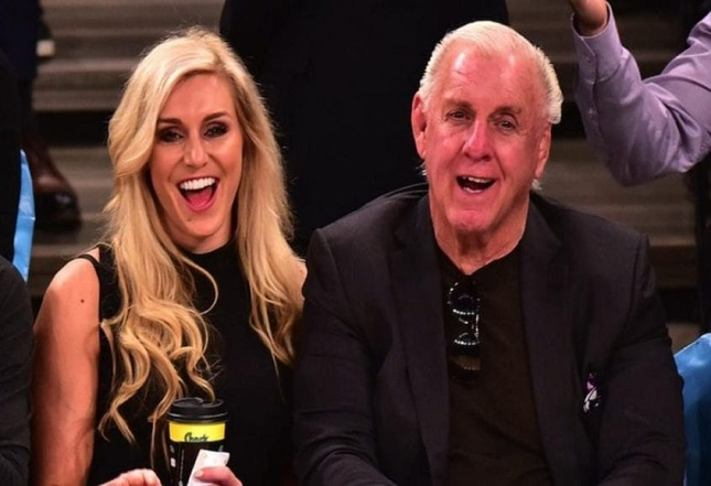 Wrestling legend Ric Flair and WWE Star Charlotte Flair