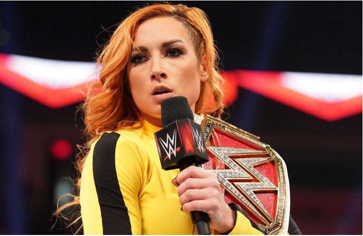 Becky Lynch with mic