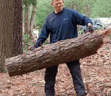 Bob Backlund with wood