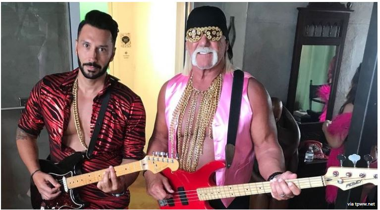 Hulk Hogan with guitar