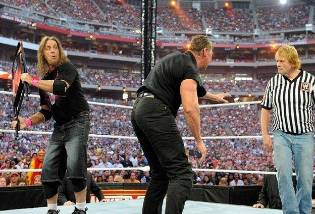 Bret Hart beat Vince McMahon in a No Hold Barred Lumberjack match at WrestleMania 26 in 2010, having been inducted into the Hall of Fame in 2006