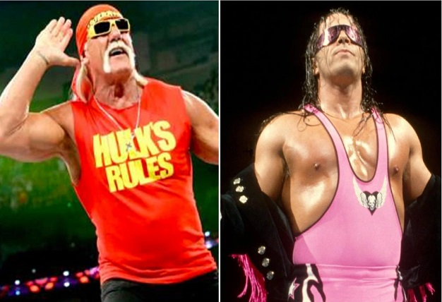 Hulk Hogan and Bret Hart