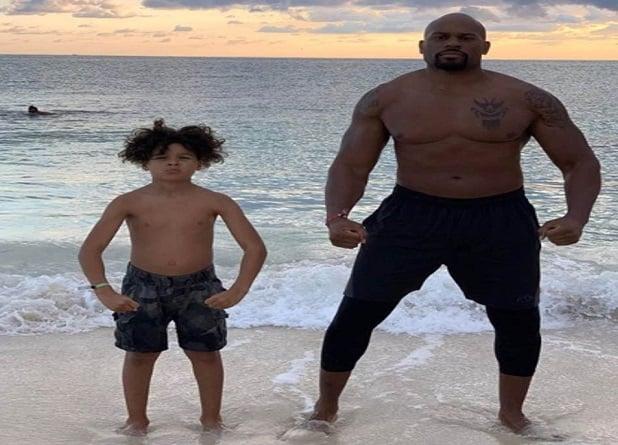 WWE star Shad Gaspard and son