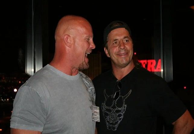 Bret Hart and Stone Cold Steve Austin. wrestling