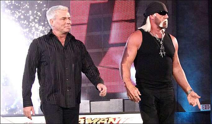 Eric Biscoff and Hulk Hogan walk