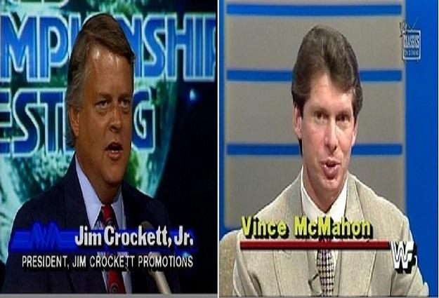 Jim Crockett, Jr and Vince McMahon