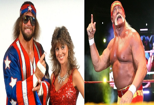 Miss Elizabeth and Macho Man Randy Savage and Hulk Hogan