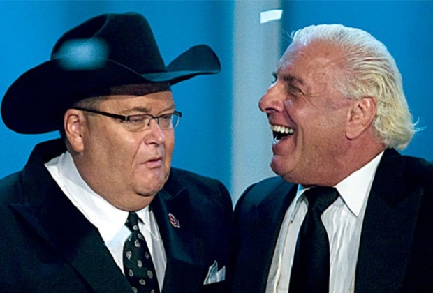 Ric Flair and Jim Ross