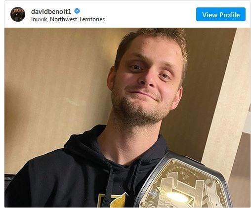 David Benoit Champion belt