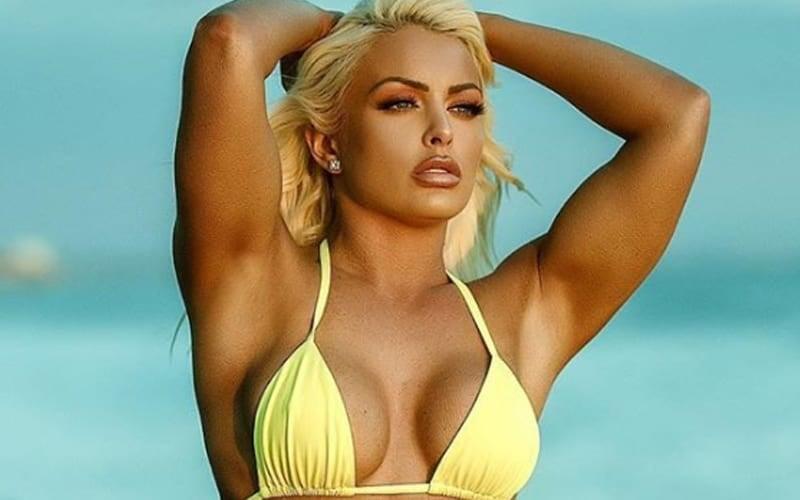 Mandy Rose yellow Bikini