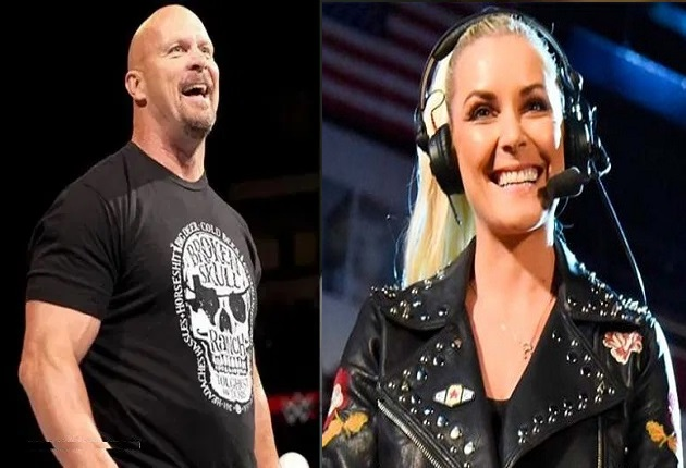 Steve Austin and Renee Young