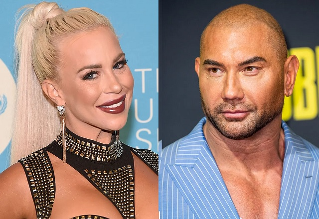 WWE stars Dave Bautista and Dana Brooke