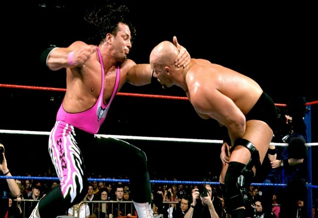 Bret Hart vs Stone Cold Steve Austin