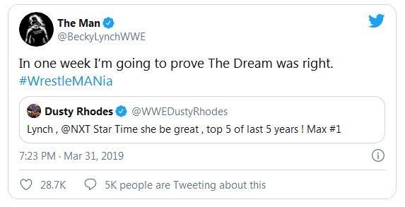 Dusty Rhodes last tweet before he died
