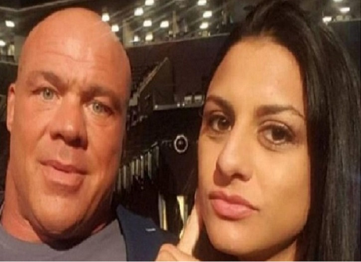 Kurt Angle and his wife