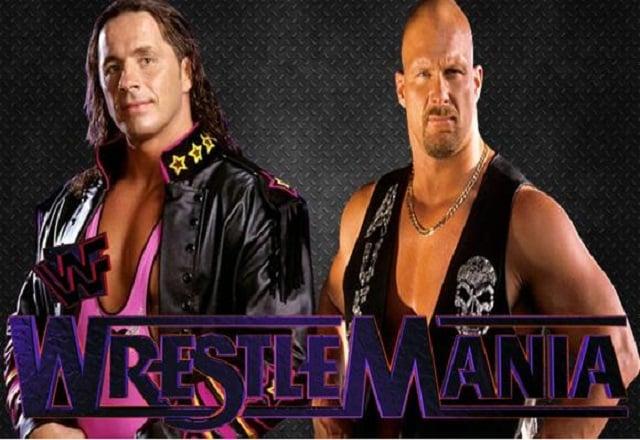 Stone Cold Steve Austin vs Bret Hart Wrestlemania 13