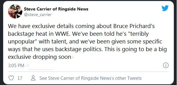 Bruce Prichard tweet