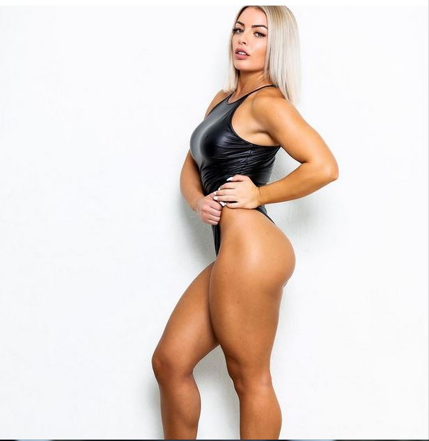 Mandy Rose shows off figure