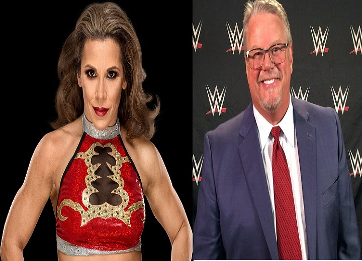 Mickie James and Bruce Prichard