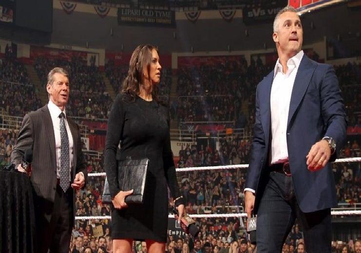 Stephanie McMahon, Vince and Shane McMahon