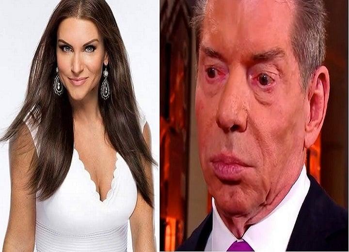 Stephanie and Vince McMahon