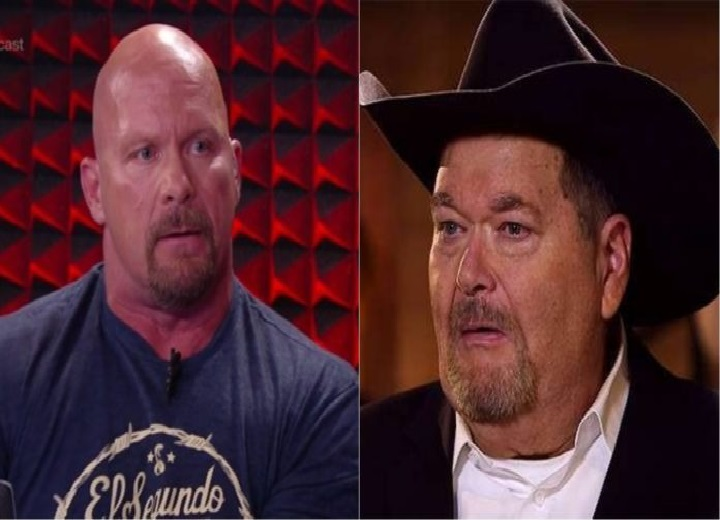 Steve Austin and Jim Ross