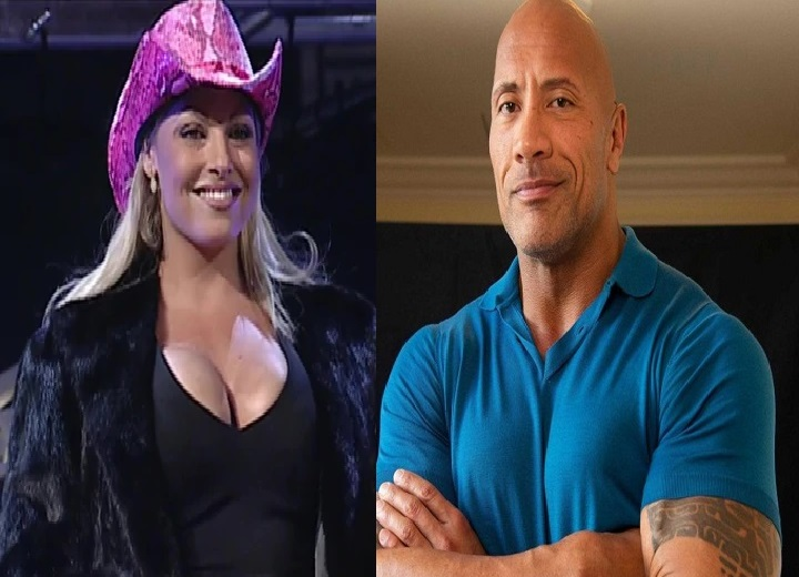 The Rock Dwayne Johnson and Trish Stratus