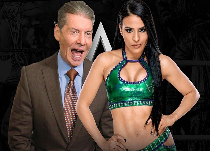 Vince McMahon and Zelina Vega