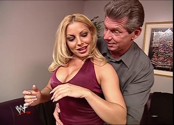 Vince McMahon kissed