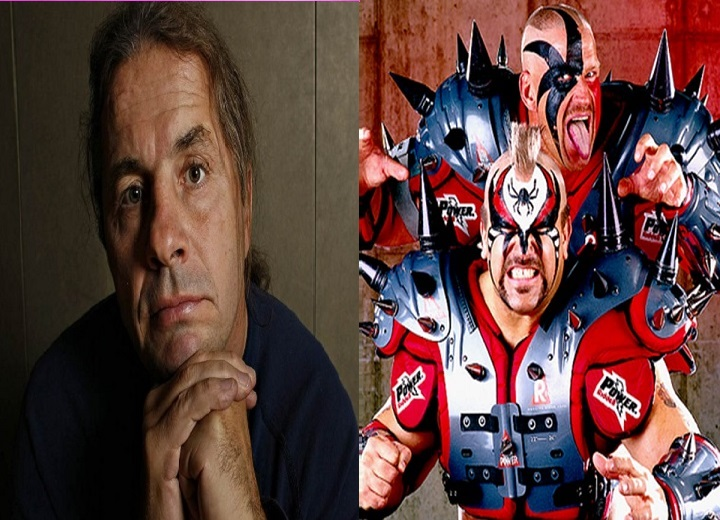 Bret Hart and Road Warrior Hawk
