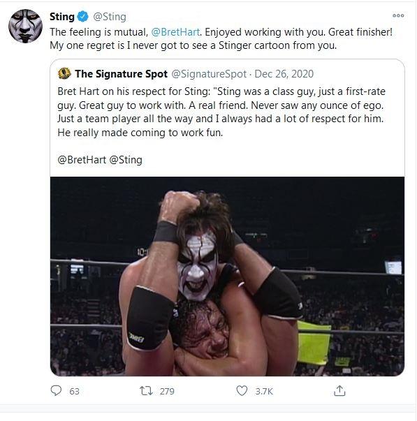 Sting vs Bret Hart
