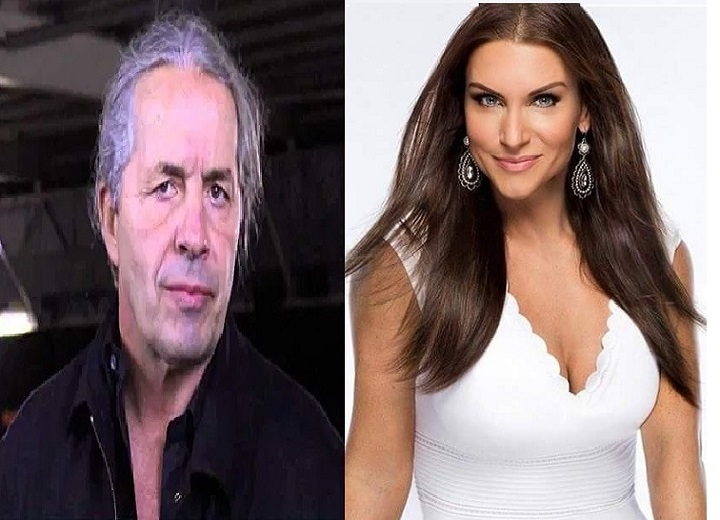 Bret Hart and Stephanie McMahon