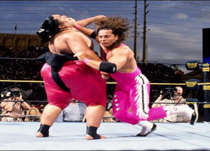 Bret Hart vs. Yokozuna 1