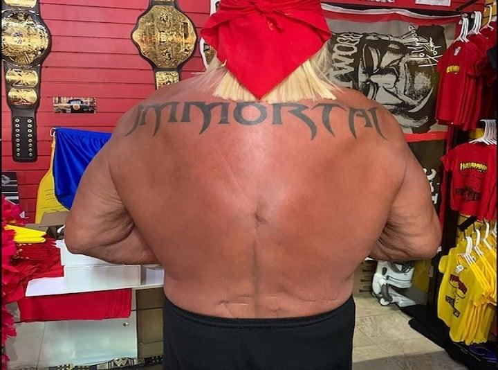 Hulk Hogan Shows Back Scars After 10th Surgery