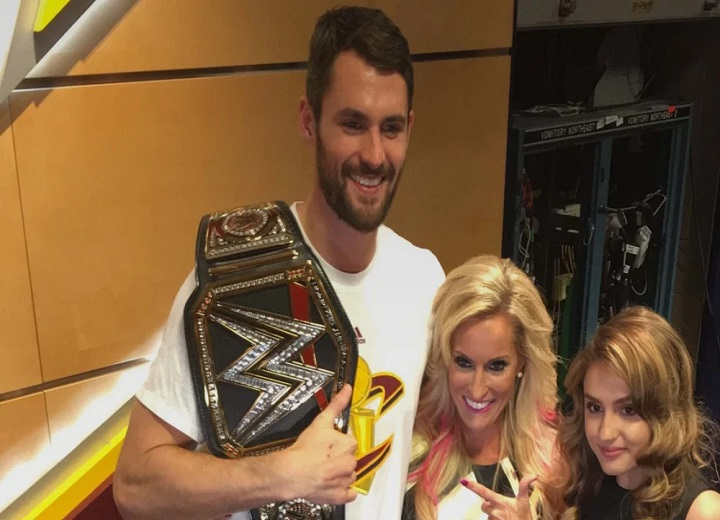 Dana Warrior, widow of The Ultimate Warrior, gives Kevin Love