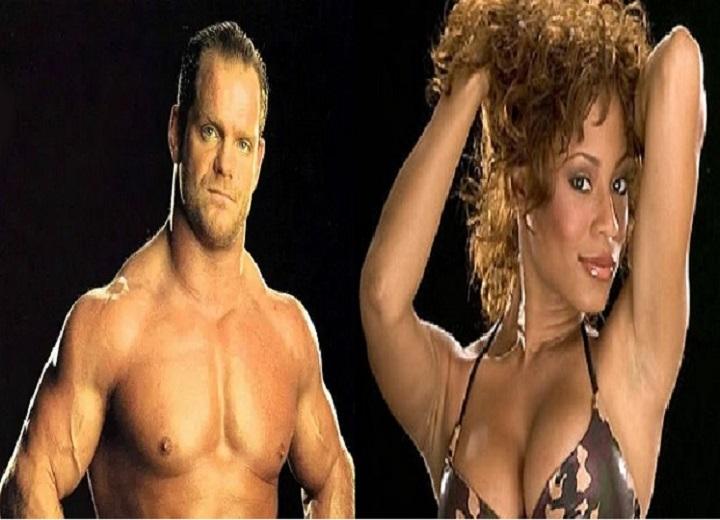 Kristal Marshall with Chris Benoit