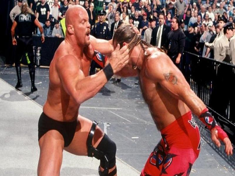 Shawn Michaels fights Steve Austin