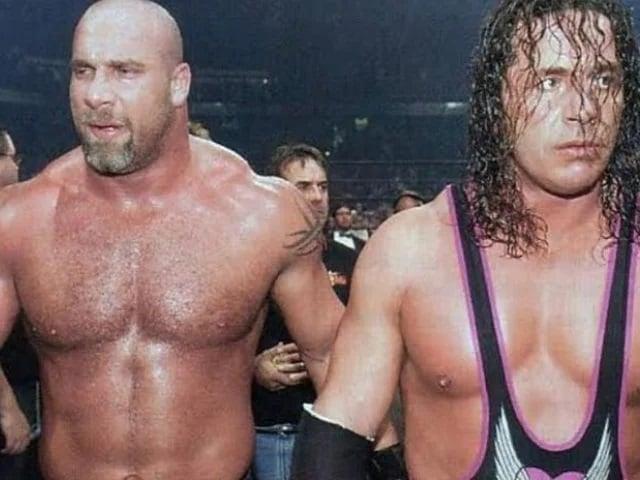 goldberg bret hart WWE hall Of fame2